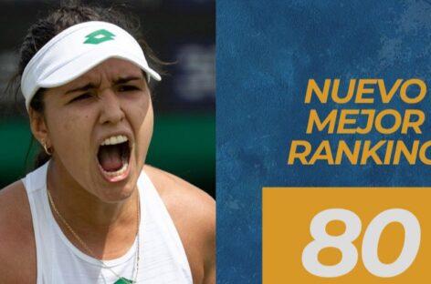 María Camila Osorio escaló hasta la casilla 80 en el ranking de la WTA