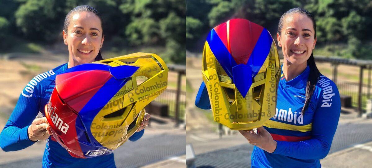 El casco que utilizará Mariana Pajón en los Juegos Olímpicos