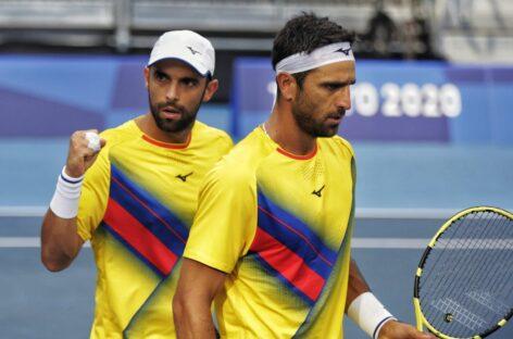 Juan Sebastián Cabal y Robert Farah avanzaron a cuartos de final en los JJOO