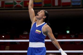 Diploma olímpico para la colombiana Jenny Arias en los Juegos Olímpicos