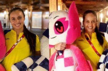 Las nadadoras artísticas Mónica Sarai Arango y Estefanía Álvarez llegaron a Tokio