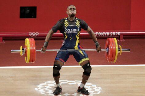 Diploma olímpico para Santiago Rodallegas en Levantamiento de Pesas