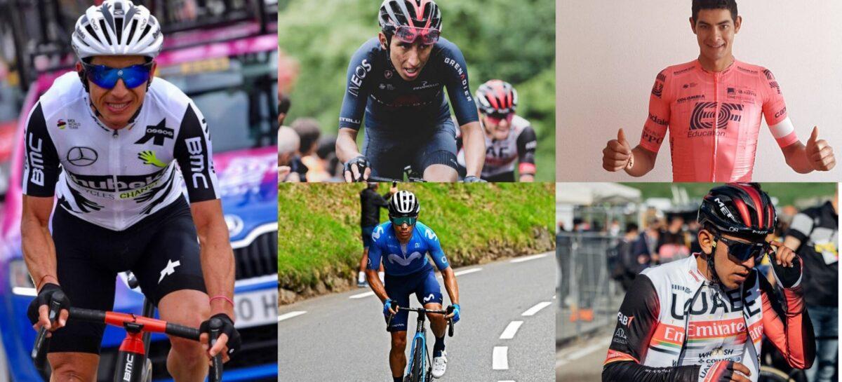 ¡Los cinco colombianos que correrán la Vuelta a España!