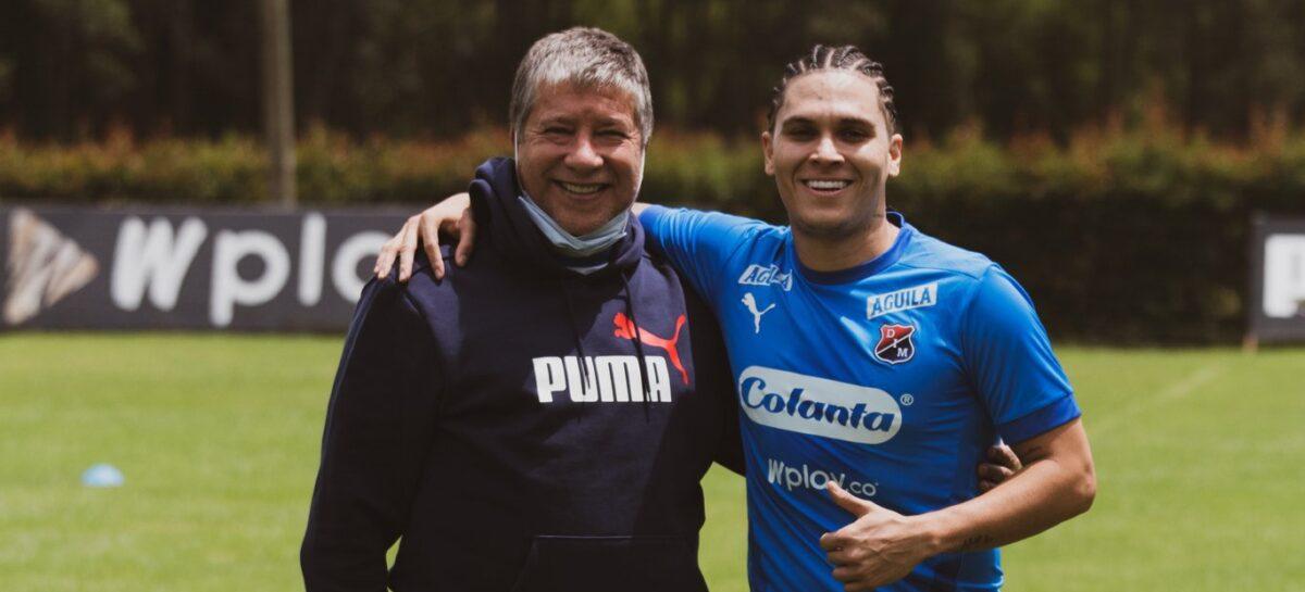 Juan Fernando Quintero entrenó con el DIM en la sede deportiva en Llanogrande
