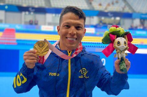 Oro y récord mundial para el colombiano Nelson Crispín en los Juegos Paralímpicos