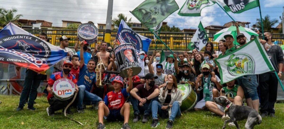 En Rionegro, la barras del DIM y Atlético Nacional firmaron el Pacto por la Convivencia