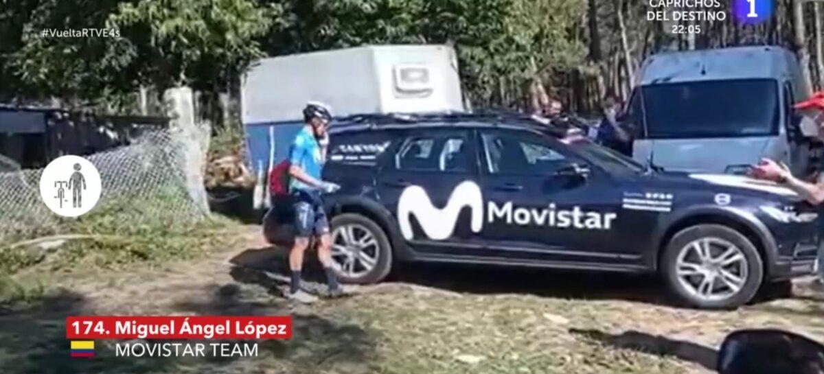 Miguel Ángel López se bajó de la bicicleta y abandonó la Vuelta a España