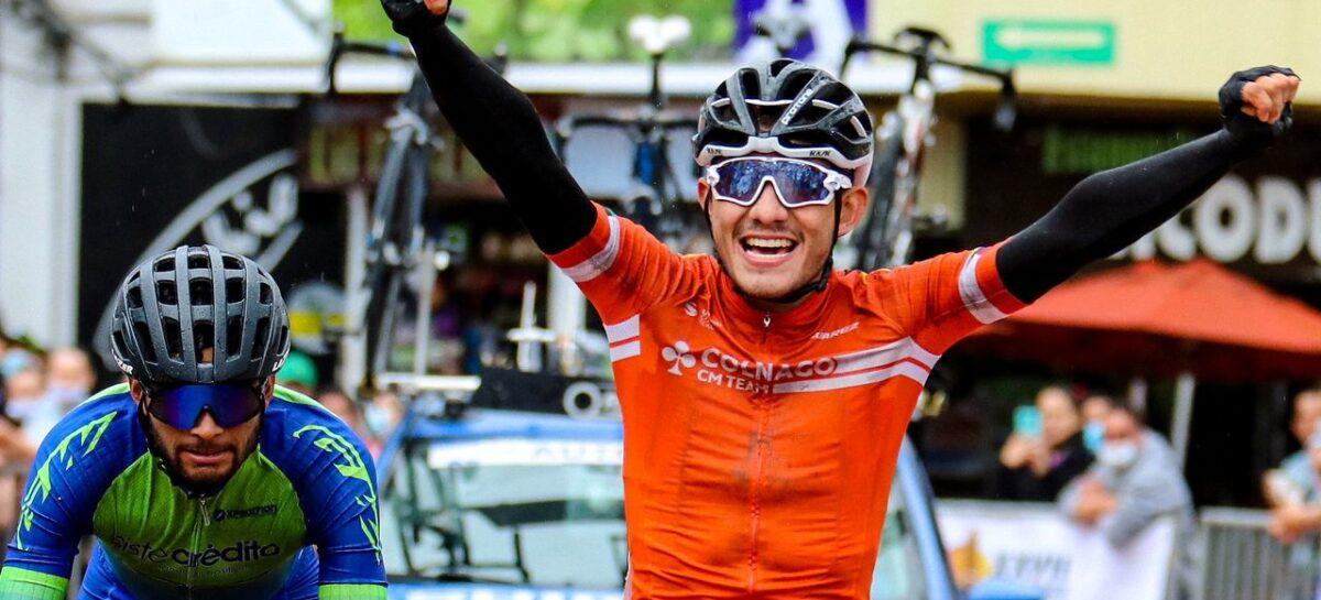 Juan Esteban Martínez ganó la segunda etapa de la Clásica de Ciclismo El Carmen de Viboral