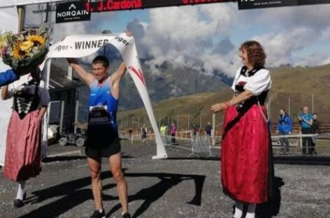 David Cardona, atleta de La Ceja, ganó la Maratón Jungfrau en Suiza