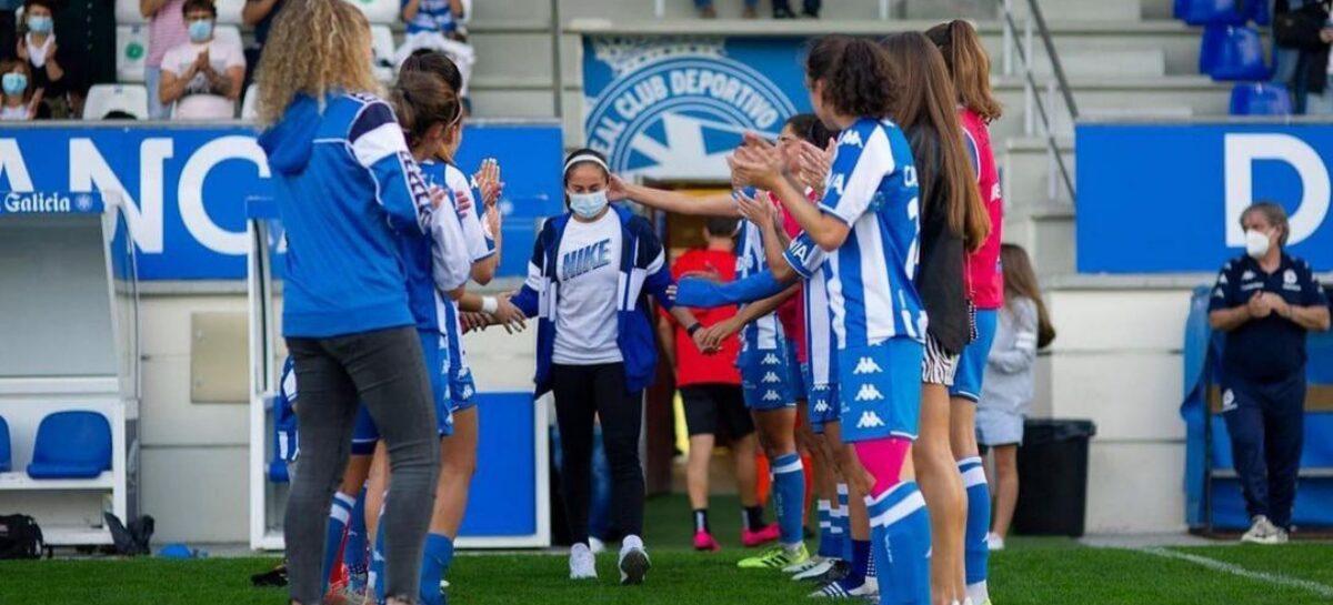 La rionegrera Carolina Arbeláez se despidió del Deportivo La Coruña