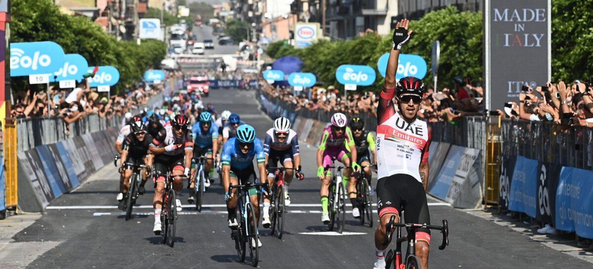 Juan Sebastián Molano ganó la primera etapa del Giro de Sicilia en Italia