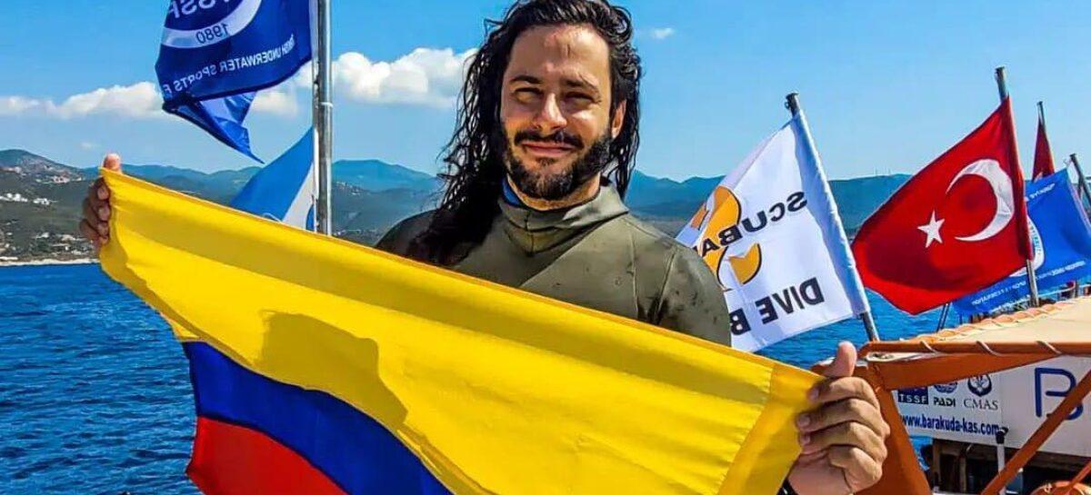 El colombiano Cristian Castaño impuso nuevo récord nacional de Apnea en Turquía