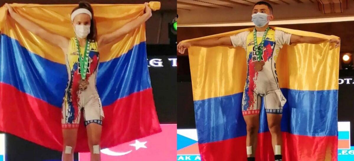 Dos colombianos ganaron medallas en el Mundial Sub-17 de Pesas en Arabia Saudita