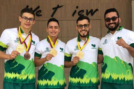 Karatecas antioqueños ganaron oro en el Nacional Interligas en San Andrés